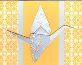 Japan Disaster Relief Sadako Origami Greeting Card