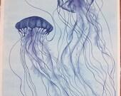 Blue Jellyfish No.9 - Original Painting