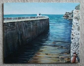Original Painting - The Breakwater