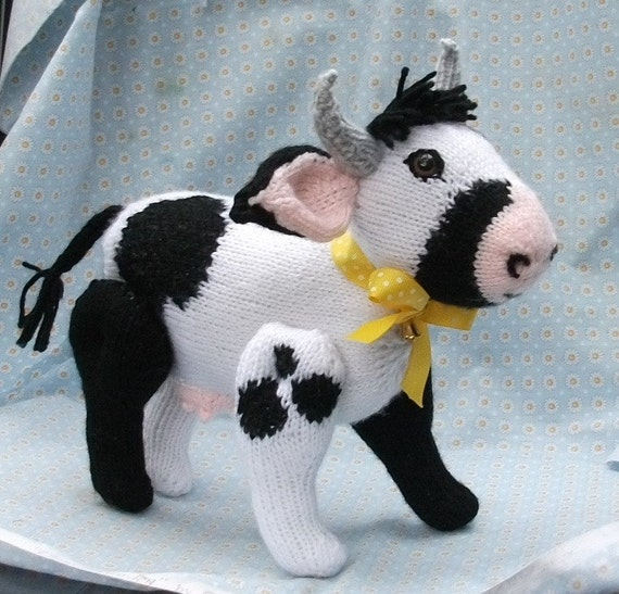 Bossy The Knitted Cow
