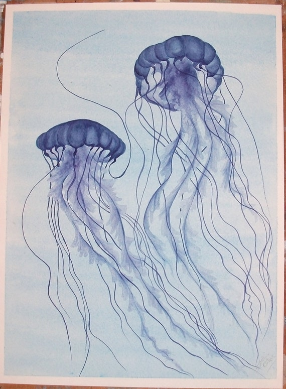 Blue Jellyfish No.9 - Original Painting