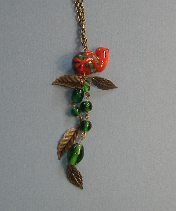 Glass Tree Frog Pendant