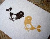Little Birds Gocco print
