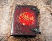 Leather Journal Cover - Red Dragon