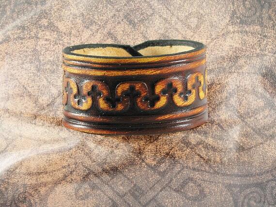 Leather Cuff - The Rustic Crisscross