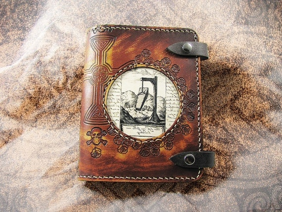 Leather Journal Cover - The Body at the Crossroads