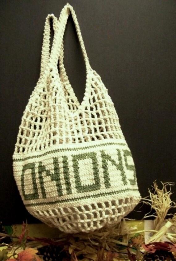 Crochet Bag Keeper Pattern : Crochet Onion Keeper Bag Available for immediate shipment