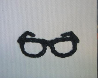 Eye Heart Stitchery - I Love Nerds Glasses Embroidered Art