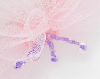 Super Sweet Pink Tulle Clippie Hair Clip