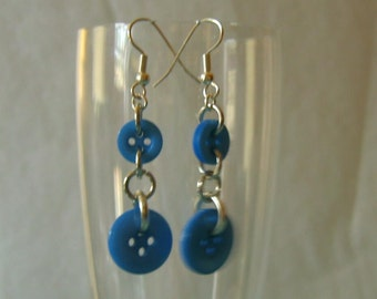 I got the Blues Button Dangle Earrings