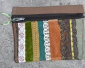 OOAK Coin Purse/ Wallet from reclaimed textiles