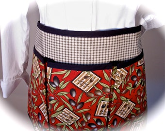 Kalamata and Black Olives Craft Apron for all your Fun Garden, Crafting, Vendor or Cooking Adventures