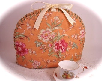 Cinnamon Girl with Passion Flowers Cotton Gusset Tea Cozy