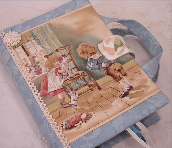 Antique Victorian Appliqued Bible or Hardbound Book Cover