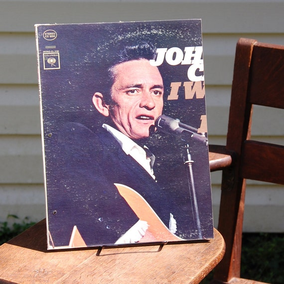 Johnny Cash Vintage Album Cover Folder