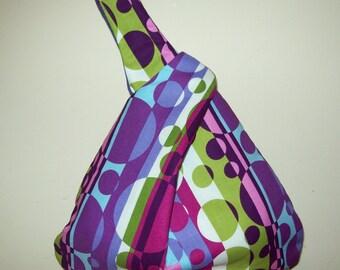 Handbag wristlet  purple abstract