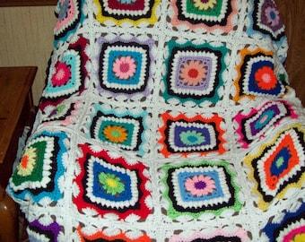 Kaleidoscope afghan  blanket
