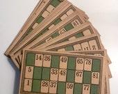 24 Vintage Lotto Bingo Cards