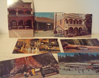 Set of 7 Vintage Postcards from California