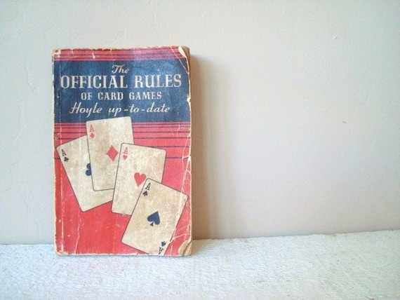 """Vintage 1939  """"The Official Rules of Card Games"""",   Hoyle up-to-date"""