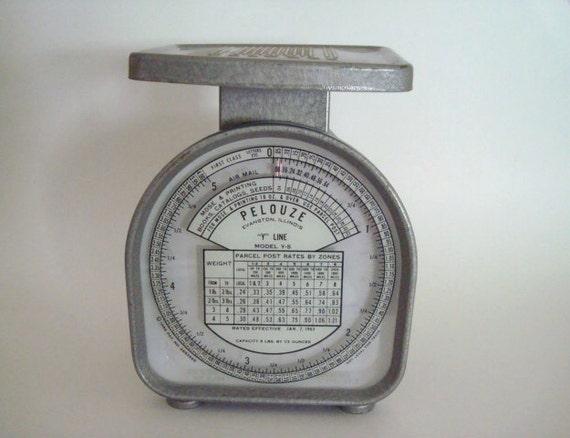 Vintage Pelouze Postage Scale 1963 Rates Model Y-5