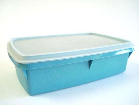 Vintage Tupperware TupperCraft Craft Box Blue
