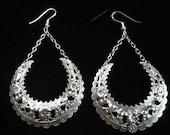 Vintage Filigree Silver Earrings