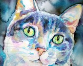 12 x 12 LP record size Pet Portrait - Custom watercolor painting of your Dog, Cat, Horse, Fish, Bird, Bunny