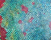 Snakeskin Original watercolor painting on canvas