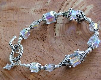 Large Bali Crystal Bracelet