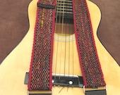 Guitar Strap Recycled Sari Silk and Cotton