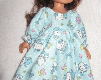 Hello Kitty Night Gown for Corolle les Cheries, Groovy Girl Dolls or Hearts for Hearts Girls