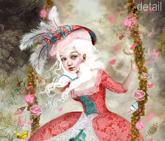Marie Antoinette - 11 X 14 art print by Meluseena