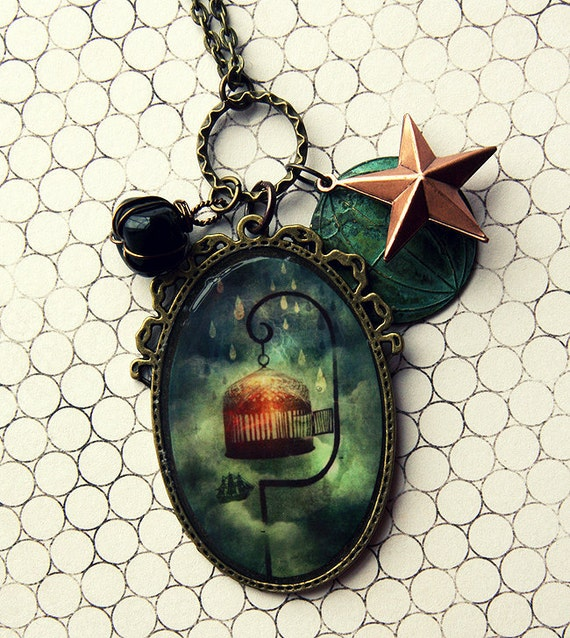 Storm Bound pendant necklace - Wearable Art Meluseena