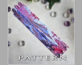 Peyote Beading Pattern : Mount Fuji Bracelet Cuff - Instant Download