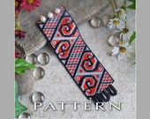 Peyote Beading Pattern : Scroll Works Bracelet Cuff - Instant Download