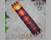 Peyote Beading Pattern : Sunset Bracelet Cuff - Instant Download