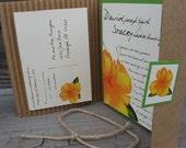 Hawaiian Tropical  Wedding Invitation Beach Natural Flower Green Eco Friendly - Customize