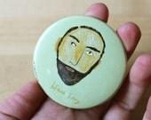 RESERVED for elizabeth Pocket Mirror: Bearded Man