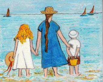 Family at the Beach I