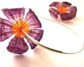 horse hair-flowers earrings