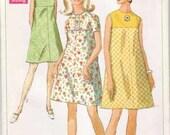 Vintage Simplicity Mod A-line dress Pattern