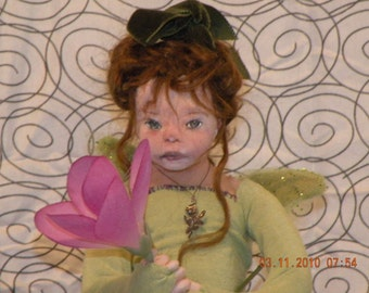 Natalie, a One of a Kind Fairy child Soft Sculpture