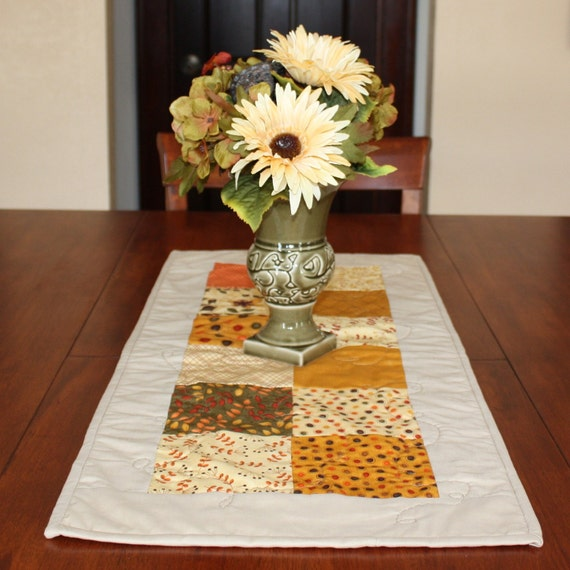 Fall Quilted Table Runner - Priced To Sell