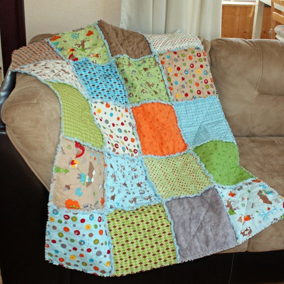 Custom Listing for Kacey - Set of two Fox Trails Baby Rag Quilts