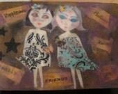 SALE Freindship Box Jewelery Box Gift Box Wooden Box keepsake butterfly