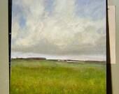 Original Oil Painting Landscape Sky Cloud Art by J Shears