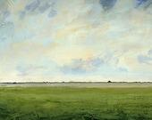 Original Oil Painting 24x24 CUSTOM Modern Abstract Sky Cloud Field LANDSCAPE ART by J Shears