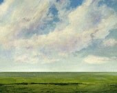 Original Oil Painting 30x30 Custom Modern Abstract Sky Cloud Field LANDSCAPE ART by J Shears