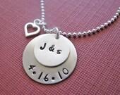 custom wedding anniversary necklace